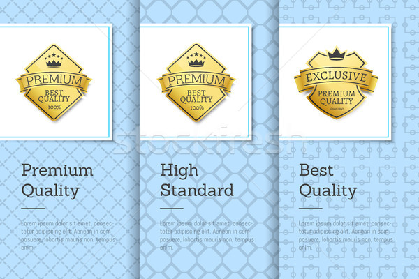 High Standard Best Premium Quality Labels Posters Stock photo © robuart
