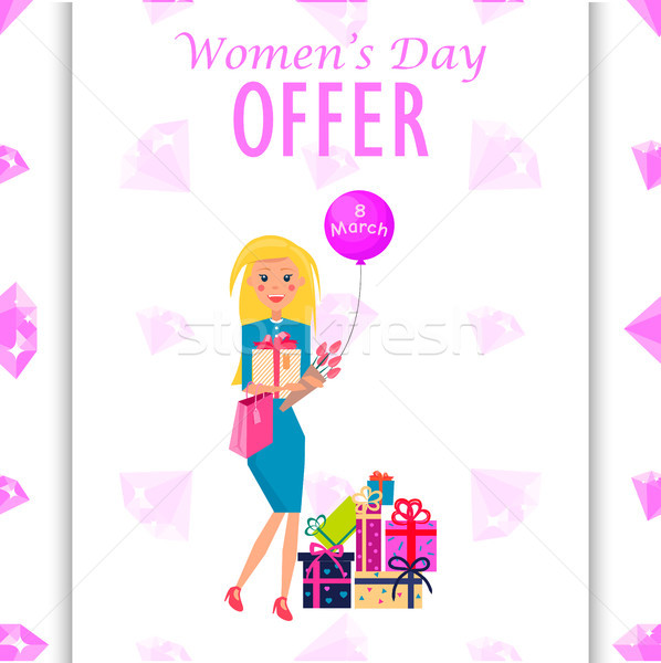 Womens Day Offer Promotion Poster Illustration Stock photo © robuart