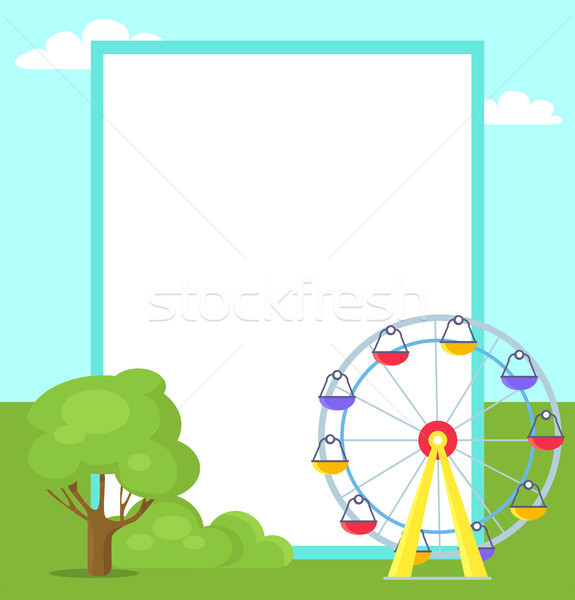 Ferris Wheel with Colorful Cabs for Amusement Park Stock photo © robuart