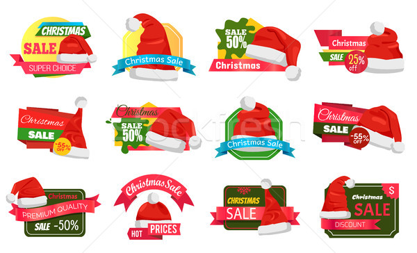 Christmas Holiday Sale Badges Vector Illustration Stock photo © robuart