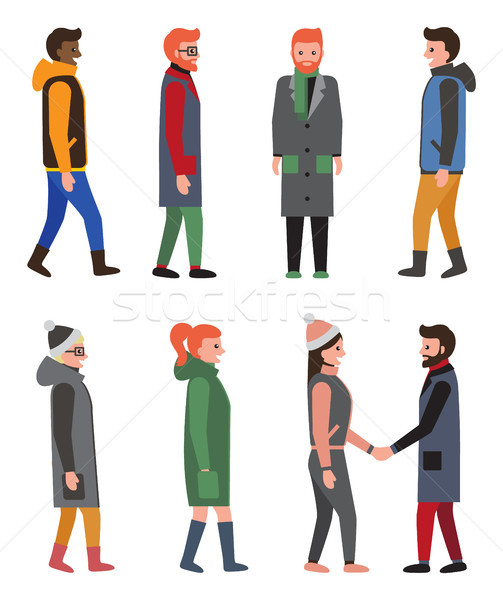 Citizens Collection of Icons Vector Illustration Stock photo © robuart