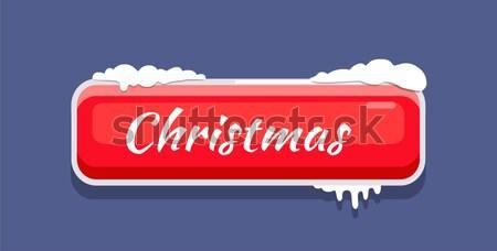 クリスマス webボタン カバー 雪 ベクトル アイコン ストックフォト © robuart