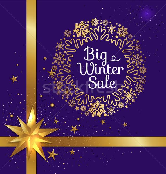 ストックフォト: ビッグ · 冬 · 販売 · 星 · 白 · 見出し