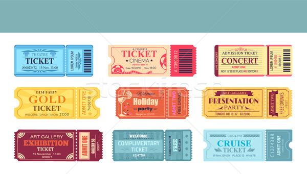 Theatre and Cinema Tickets Set Vector Illustration Stock photo © robuart