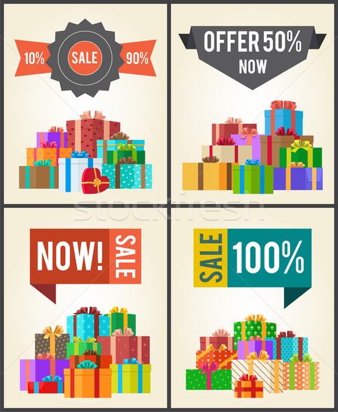 10 verkoop best half prijs bieden Stockfoto © robuart