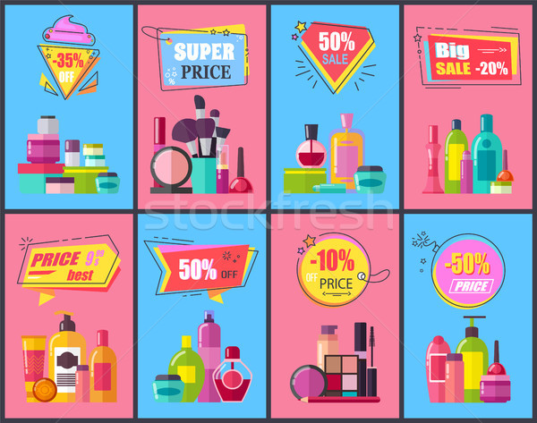 Big Sale for Decorative and Skincare Cosmetics Stock photo © robuart