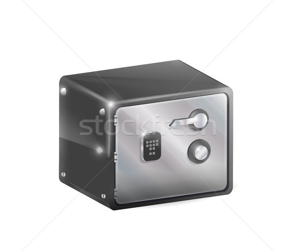 Metal Safe Strongbox Vector Illustration Isolated Stock photo © robuart