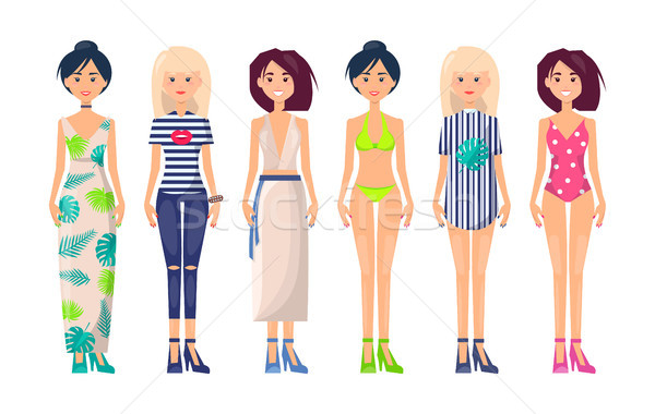 New Summer Collection of Clothing Item Fashionable Stock photo © robuart