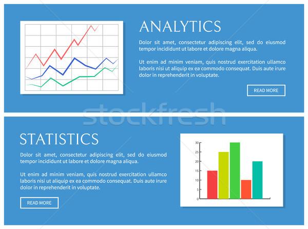 Analitica statistiche carta isolato blu sfondo Foto d'archivio © robuart