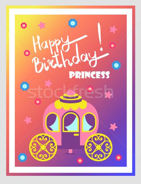 Feliz cumpleaños princesa cute anunciante texto Foto stock © robuart