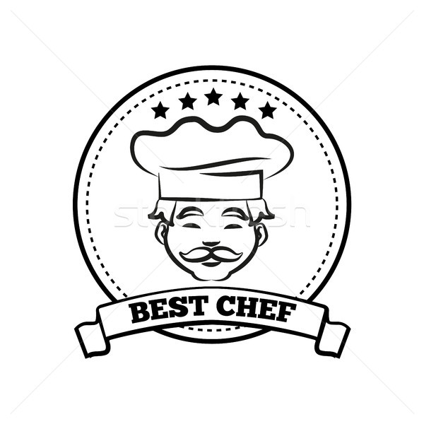 Best Chef Poster Sketch Text Vector Illustration Stock photo © robuart