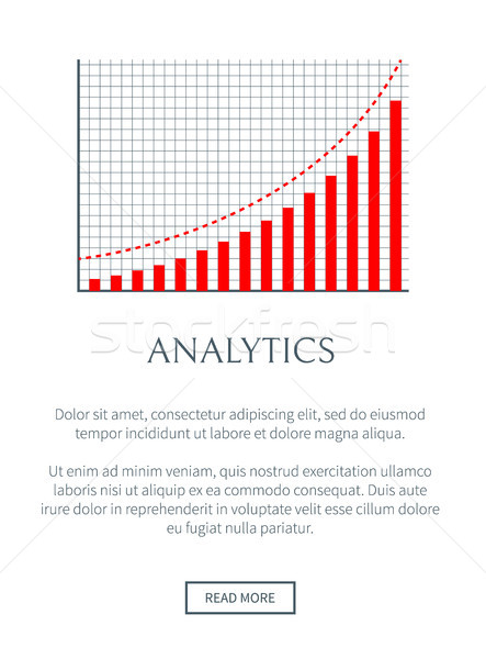 Analytics business grafiek pagina plaats Stockfoto © robuart