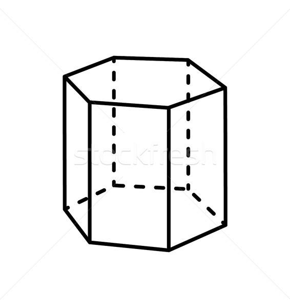 Hexagonal Prism Geometric Figure Geometry Dash Stock photo © robuart