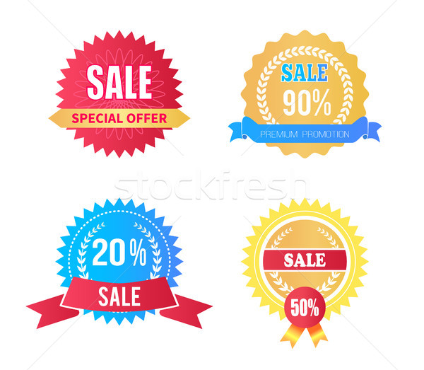Ingesteld verkoop laurier Stockfoto © robuart