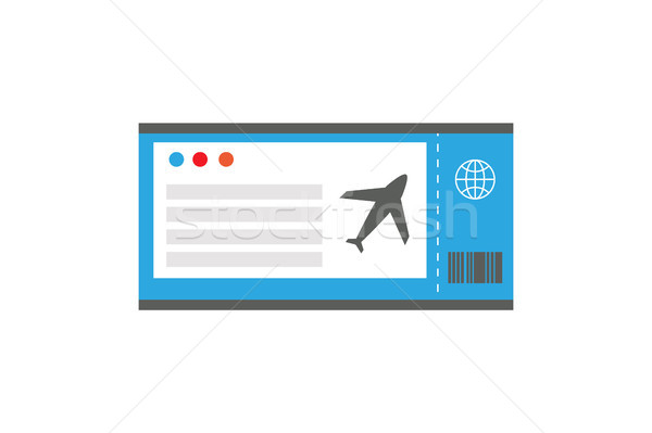 Ticket on Plane Document, Vector Illustration Stock photo © robuart