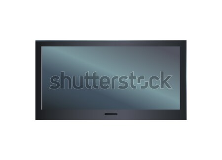 TV Set with Big Screen Closeup Vector Illustration Stock photo © robuart