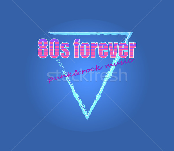 80s Forever Punk Rock Music Vector Illustration Stock photo © robuart