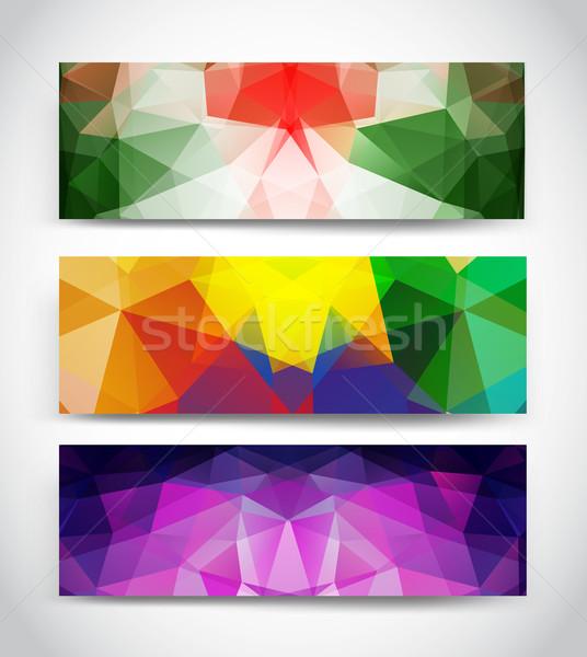 Stock photo: Triangular banners