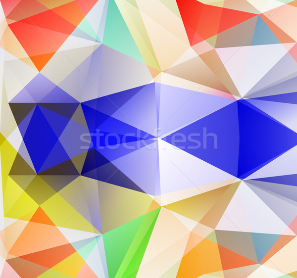 Triangle background. Colorfull polygons. Stock photo © robuart