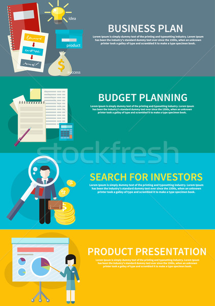 Business plan, budget planning, search investors Stock photo © robuart