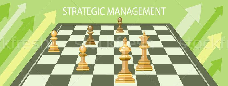 Business strategic management Stock photo © robuart