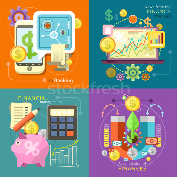 Mbanking, Finance Market, Management Stock photo © robuart