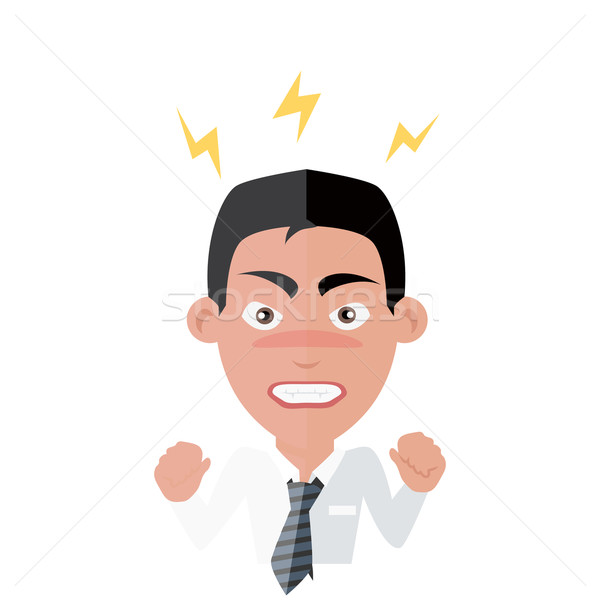 Emotion Avatar Man Angry Success Stock photo © robuart