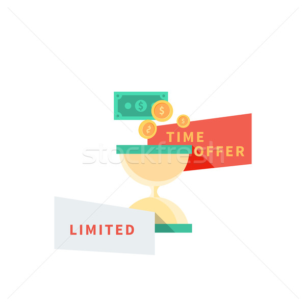 Sale Badge Time Offer Limited Stock photo © robuart