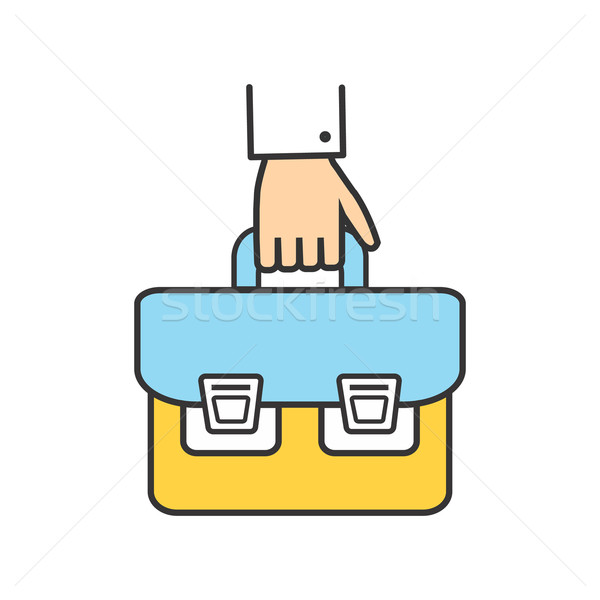 Icon Success Man with a Briefcase in His Hand Stock photo © robuart