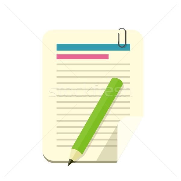 Paper Sheet Pencil Pen Icon Stock photo © robuart