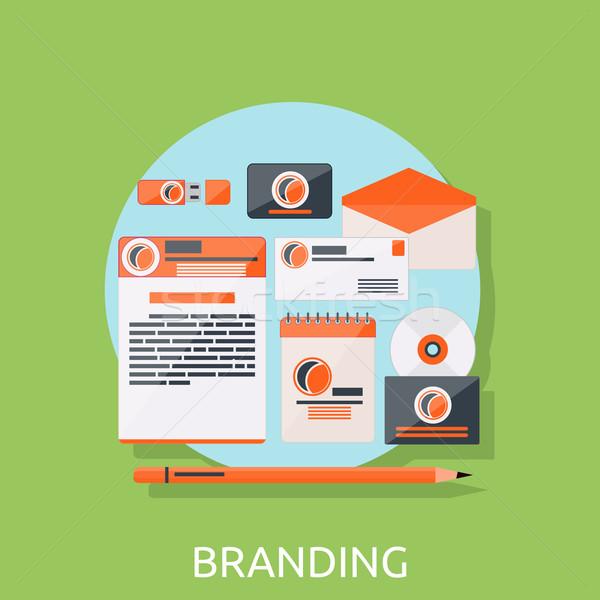 Marca ícones marca projeto identidade negócio Foto stock © robuart