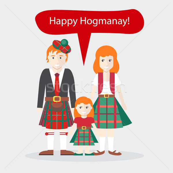 Scots People Congratulations Happy New Year Stock photo © robuart