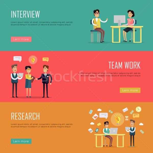 Social Teamwork Concept. Website Design Template Stock photo © robuart