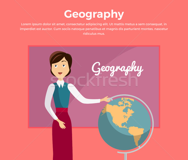 Subject of Geography Education Conceptual Banner Stock photo © robuart