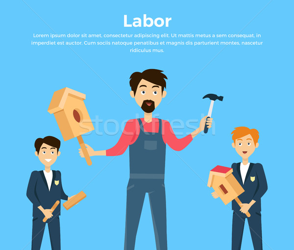 Subject of Labor Education Conceptual Banner Stock photo © robuart