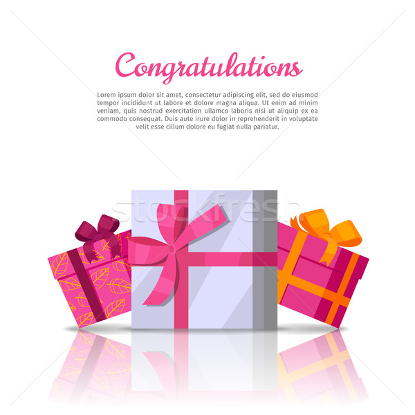 Congratulations Conceptual Web Banner in Flat Style Stock photo © robuart
