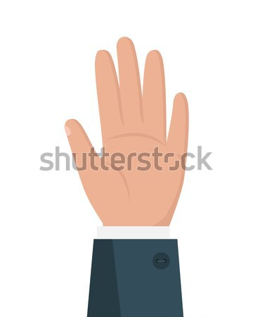 Human Hand Vector Illustration in Flat Design.  Stock photo © robuart
