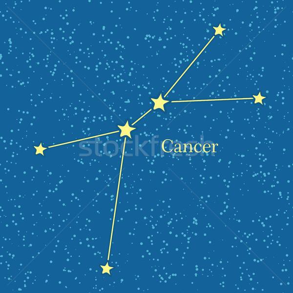 Cancer zodiac symbole cosmique ciel quatrième Photo stock © robuart
