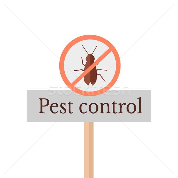 Signo icono rojo círculo insectos Foto stock © robuart