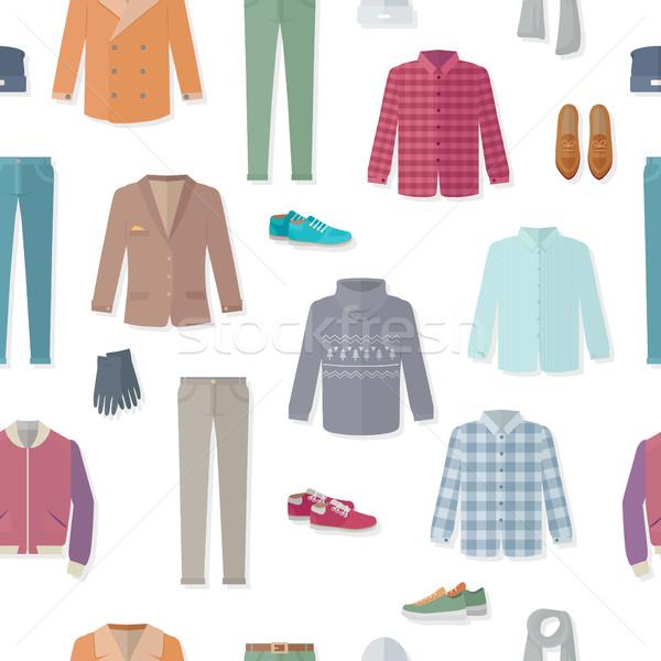 ストックフォト: 服 · 秋 · ベクトル · ジャケット · セーター