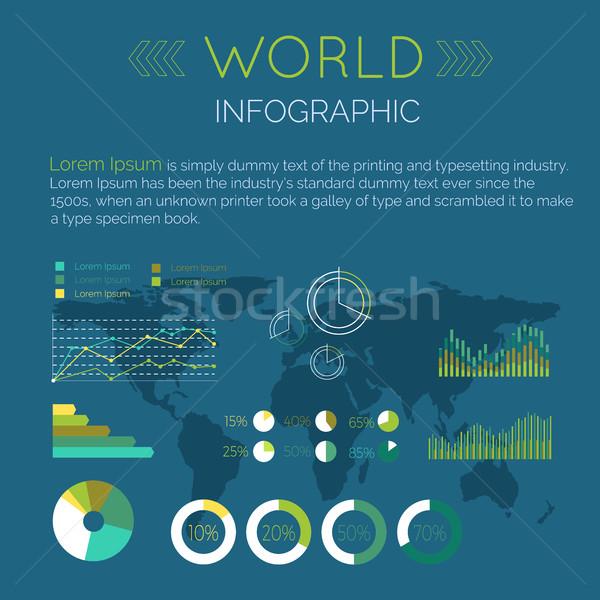Word Infographic Flat Design Vector Illustration Stock photo © robuart