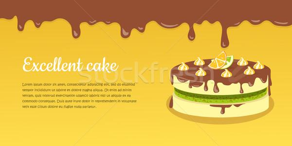 торт отлично клубника пирог дизайна Сток-фото © robuart