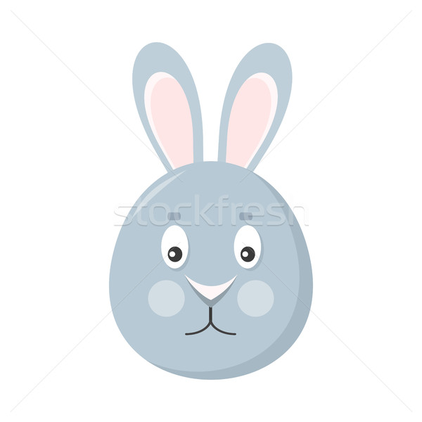 Rabbit Mask Isolated on White. Hare or Grey Bunny Stock photo © robuart