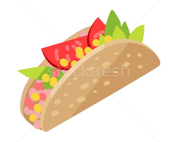 мексиканских хот-дог изолированный белый Hot Dog бекон Сток-фото © robuart
