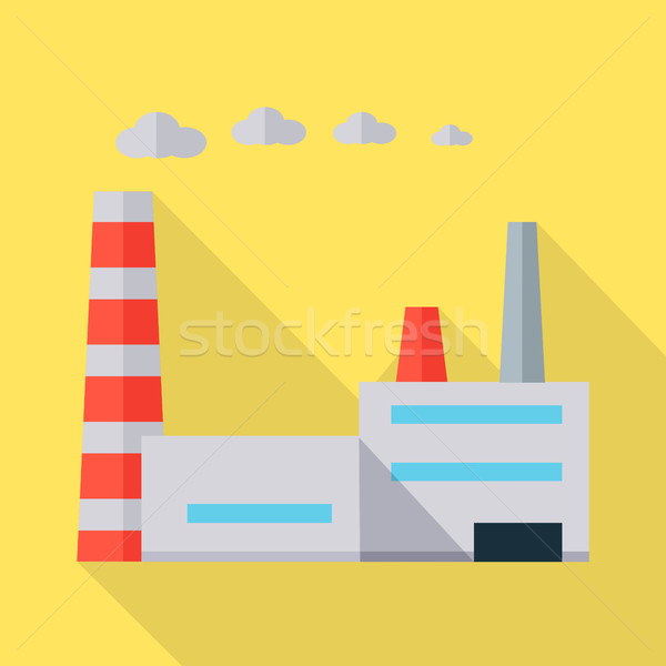 Factory Vector Illustration in Flat Design.   Stock photo © robuart