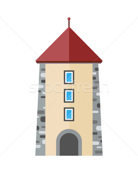 Medieval city tower icon. Ancient stone tower Stock photo © robuart