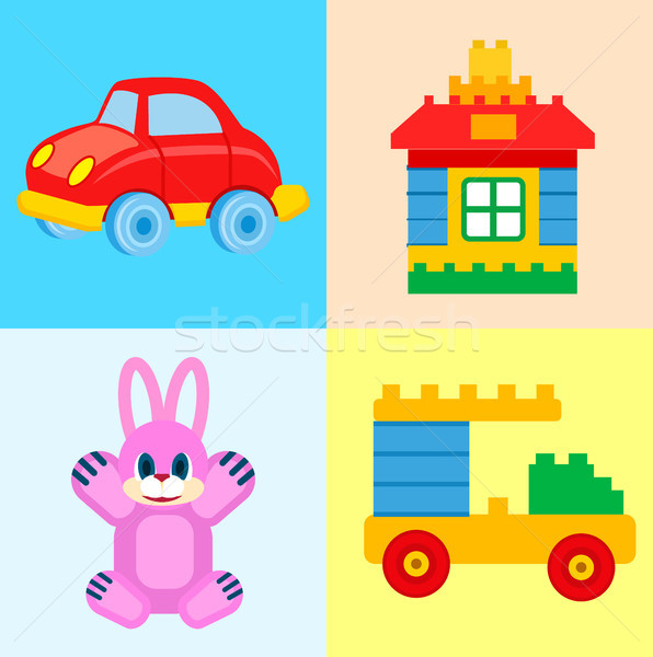 Childrens Toys for Play Time Illustrations Set Stock photo © robuart