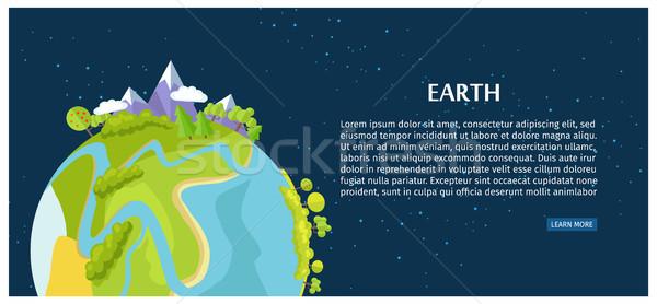 Kurtarmak toprak poster görmek gezegen uzay boşluğu Stok fotoğraf © robuart