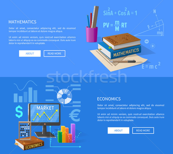 Mathematics and Economics Lessons Informative Page Stock photo © robuart