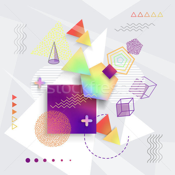 Various Geometric Shapes Set of Illustrations Stock photo © robuart
